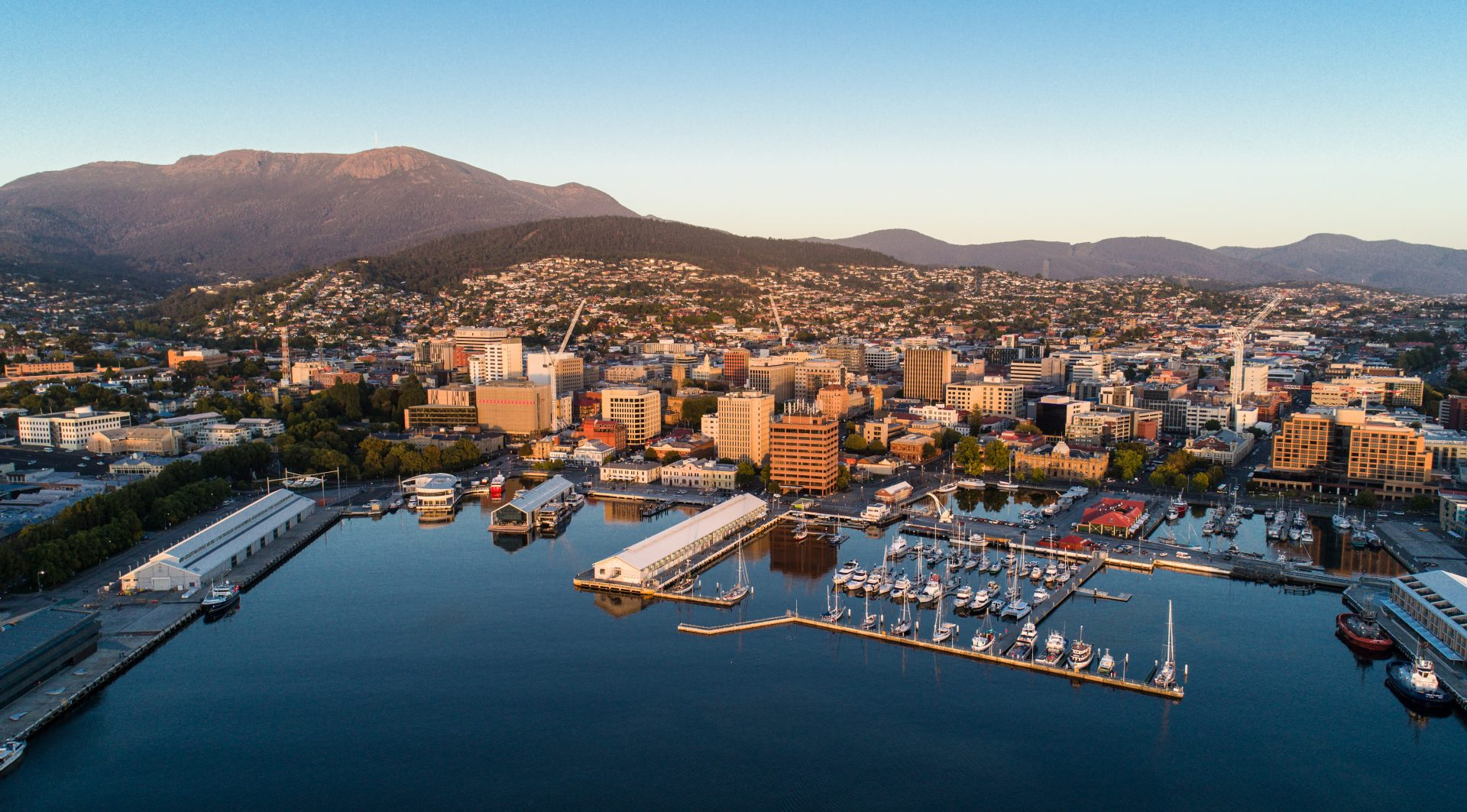 Dawn view of Hobart, Tasmania, Australia's hidden gem