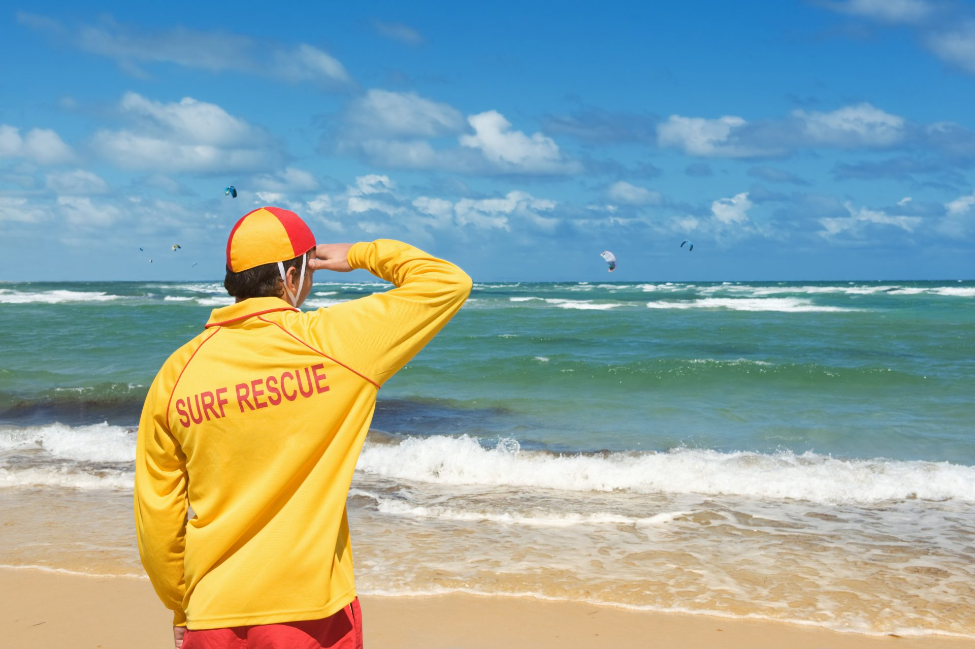 lifesaver watching beach